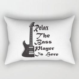 Bass Guitar Shirt Relax The Player Here Gift Rectangular Pillow