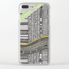 Hand drawn pattern wave Clear iPhone Case