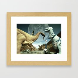Dinosaur Road Trip Framed Art Print
