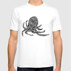 Octopus SMALL Mens Fitted Tee White