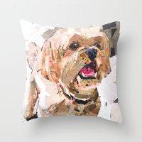 simba Throw Pillows featuring Simba The Shih Tzu by Maritza Hernandez