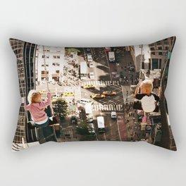 Twins abov NY Rectangular Pillow