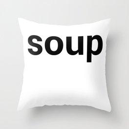 soup Throw Pillow