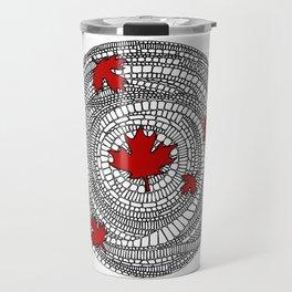 Canadian Maple Red Travel Mug