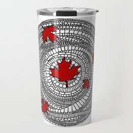 Canadian Maple Red Travel Mug