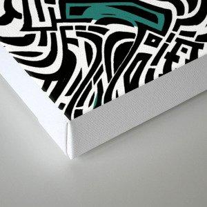 Trippy Urban Center Canvas Print