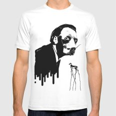 SalvaDog Dalí MEDIUM White Mens Fitted Tee