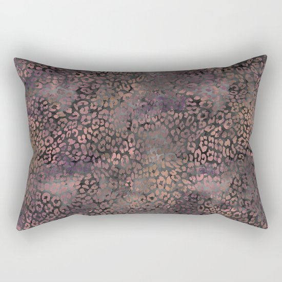 Brown Leopard Print Rectangular Pillow