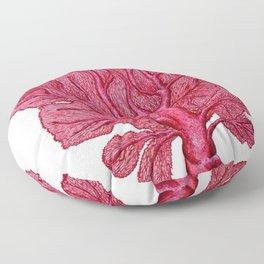 Venus red sea fan coral Floor Pillow