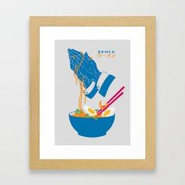 Delicious Daily Ramen Framed Art Print