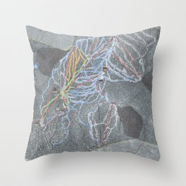 Northstar Resort Trail Map Throw Pillow