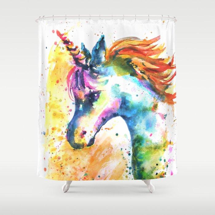 Unicorn Splash Shower Curtain by emmakaufmann | Society6