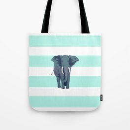The Green Elephant Tote Bag