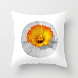 narcissus bloom II Throw Pillow