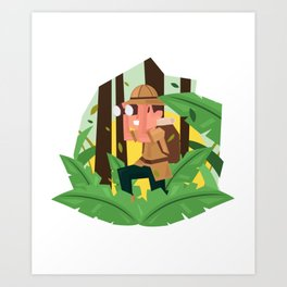 Exploring The Jungle Art Print