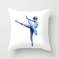Geometric Ballerina Throw Pillow
