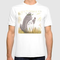 Silent Guardian White Mens Fitted Tee MEDIUM