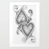 Art Print featuring Two Of hearts by C. Dunning