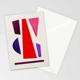 Pieces abstract Stationery Cards