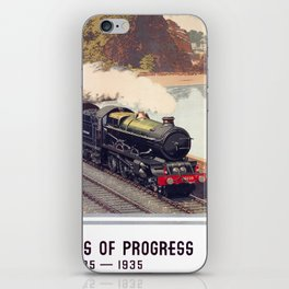 100 Years of Progress, 1835-1935. GWR Vintage Travel Poster iPhone Skin
