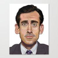 michael scott Canvas Prints featuring Michael Scott-World's Best Boss by Dylan Holden