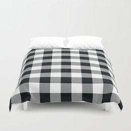 Buffalo Check Black White Plaid Pattern Duvet Cover