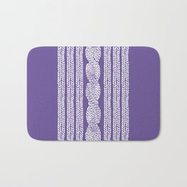 Cable Stripe Violet Bath Mat