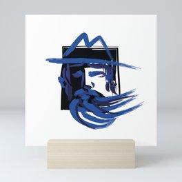Blue beard. Man in a hat Mini Art Print