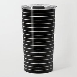 Minimal Line Curvature - Black and White II Travel Mug