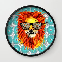 Trippy Lion A4 Wall Clock