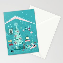 Retro Holiday Decorating Stationery Cards