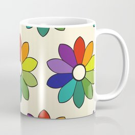 Flower pattern based on James Ward's Chromatic Circle (enhanced) Coffee Mug