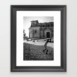 Baseball in Cuba Framed Art Print