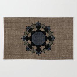 Lotus Mandala on Fabric Rug
