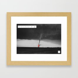 Wish You Were Here Framed Art Print