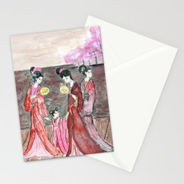 Four ancient Oriental beauties Stationery Cards