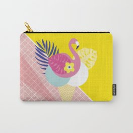 Pink Flamingo Summer Ice cream scoops #summervibes Carry-All Pouch