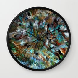 Desert Peacock Shag Wall Clock