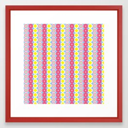 Pattern Blue & Pink Framed Art Print