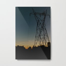 Industrial Sunset Metal Print
