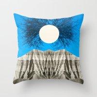 mythology Throw Pillows featuring Mythology by 松本 ナオヤ [Naoya Matsumoto]