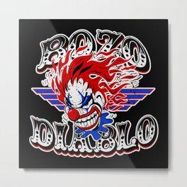 Scary Clown Illustration Metal Print