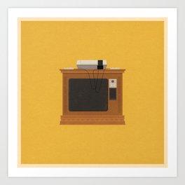 Retro TV and Console Art Print