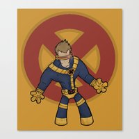 cyclops Canvas Prints featuring Cyclops by Twisted Dredz