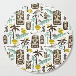Island Tiki - White Cutting Board