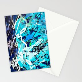 Ocean motion love abstract Stationery Cards