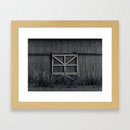 Storage door Framed Art Print