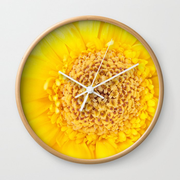Sunny Summer Love - Yellow Gerbera #1 #decor #art #society6 Wall Clock