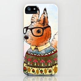 hipsta Squirrel iPhone Case
