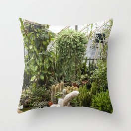 Greenhouse 011  /  The Jungle Room Throw Pillow